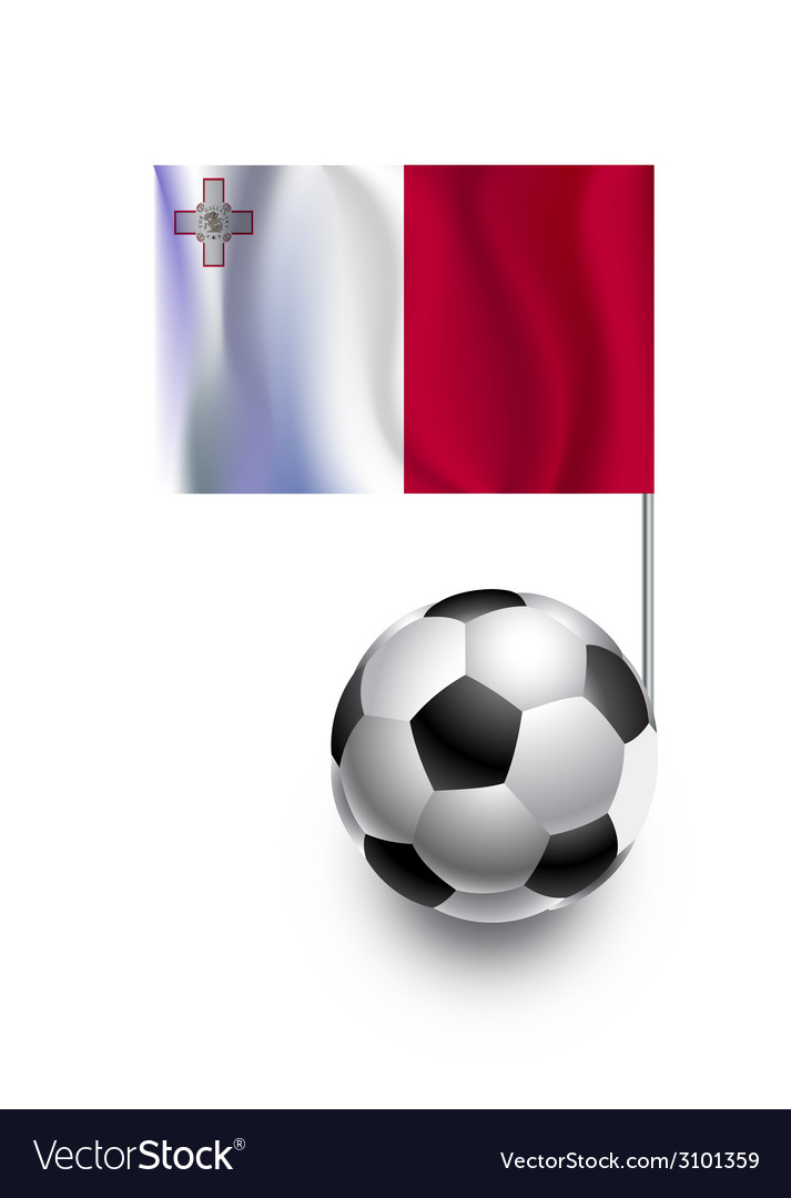 Soccer balls or footballs with flag of malta vector | Price: 1 Credit (USD $1)