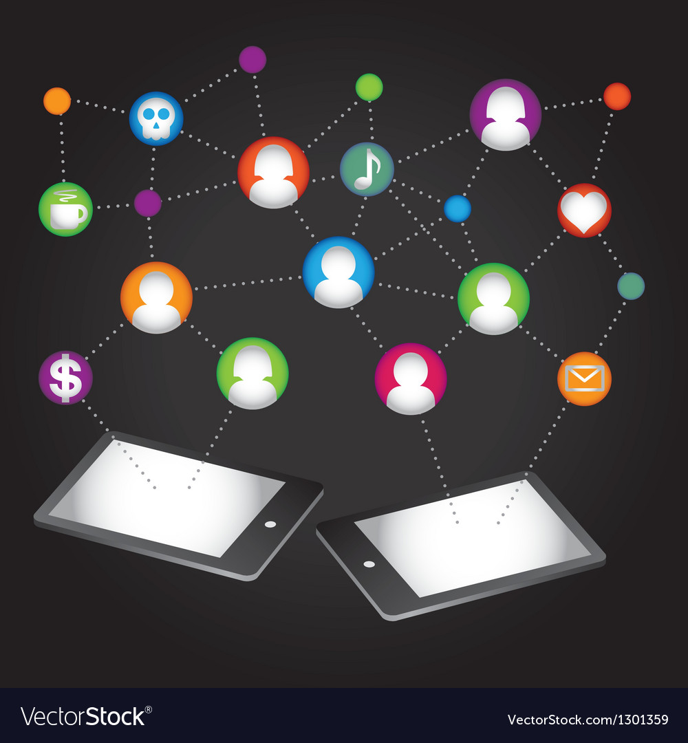 Social network internet chat community comm vector | Price: 1 Credit (USD $1)