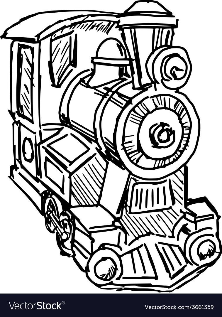 Steam engine train vector | Price: 1 Credit (USD $1)