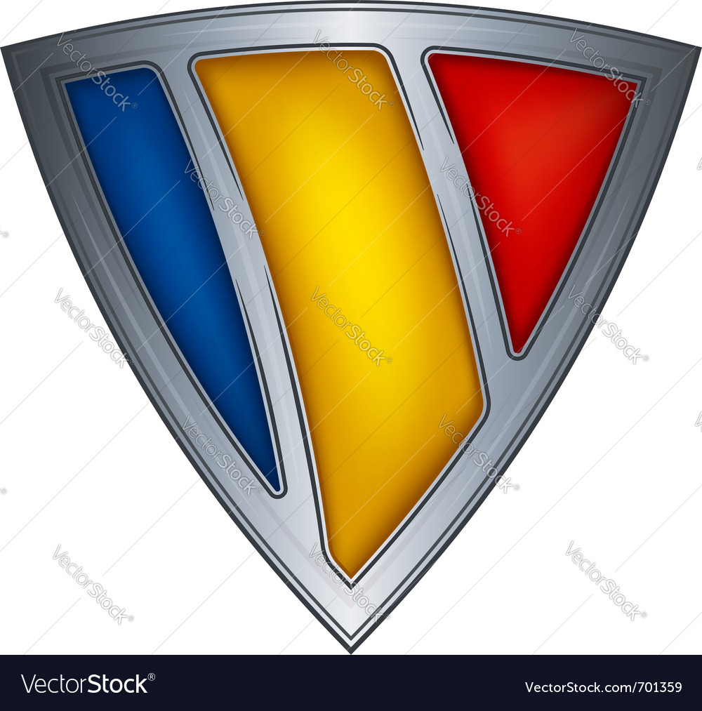 Steel shield with flag chad vector | Price: 1 Credit (USD $1)