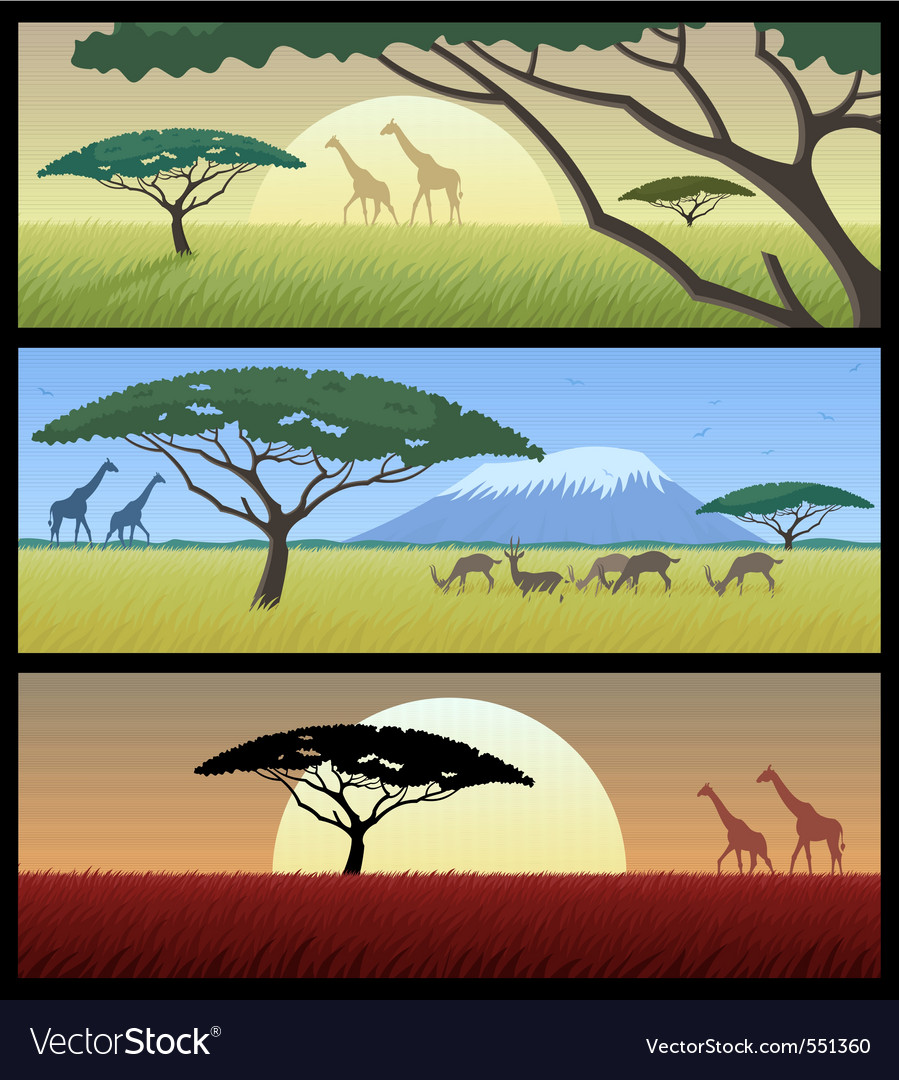 Africa landscapes vector | Price: 3 Credit (USD $3)