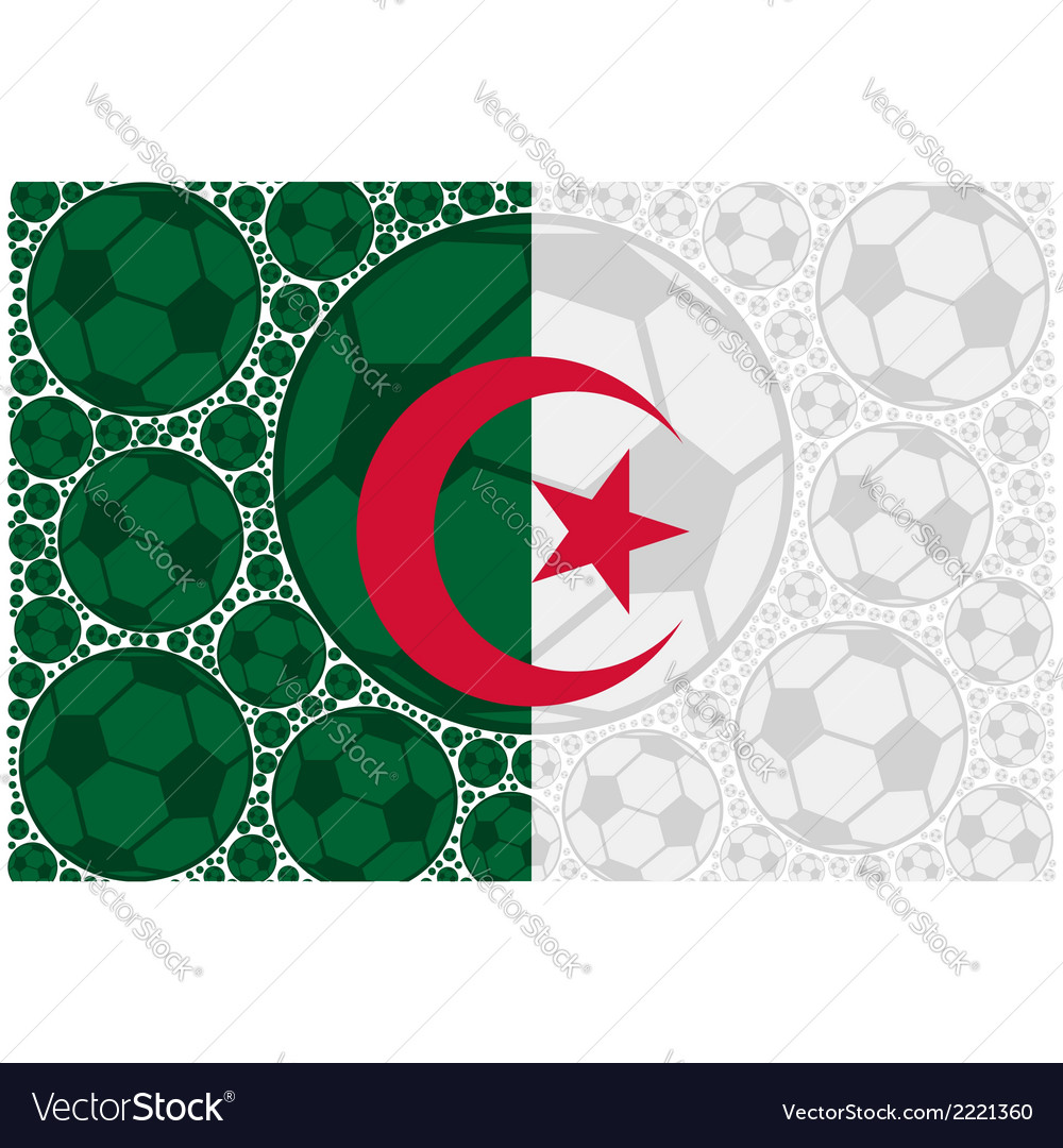 Algeria soccer balls vector | Price: 1 Credit (USD $1)