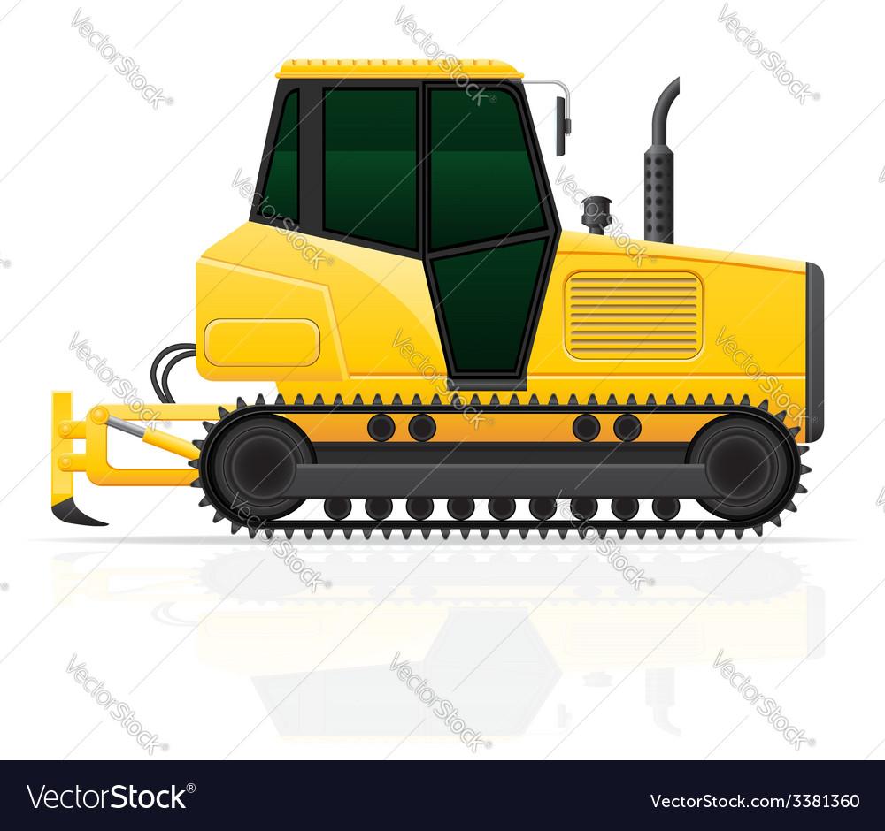 Caterpillar tractor 04 vector | Price: 3 Credit (USD $3)