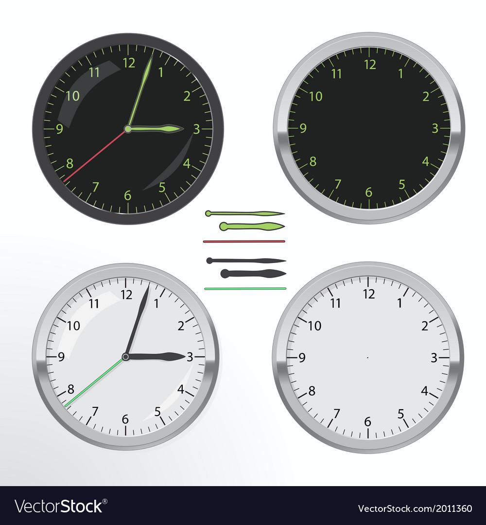 Clock set vector | Price: 1 Credit (USD $1)