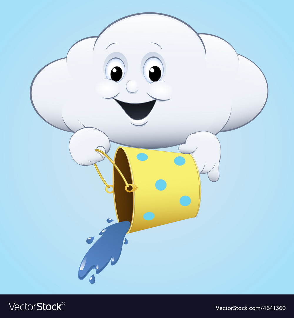 Cloud icon with a bucket vector   Price: 1 Credit (USD $1)