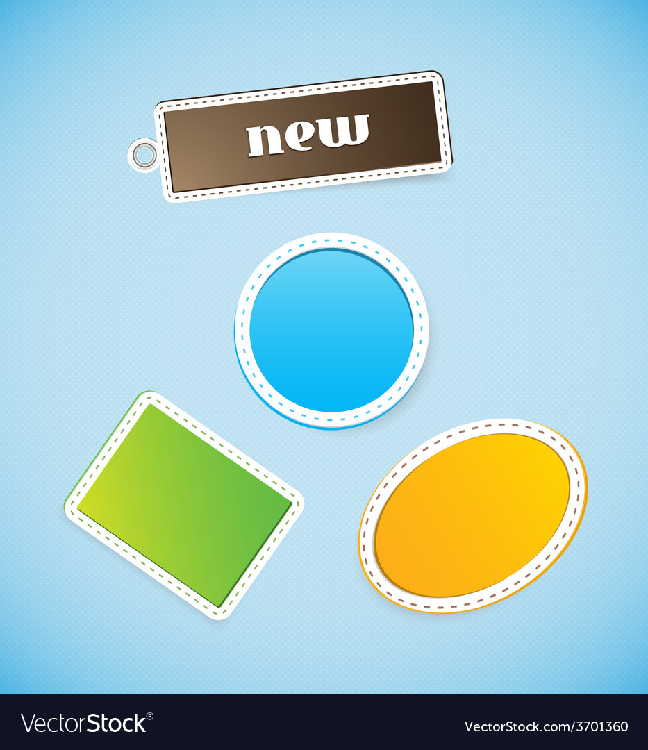 Colored price tags vector | Price: 1 Credit (USD $1)