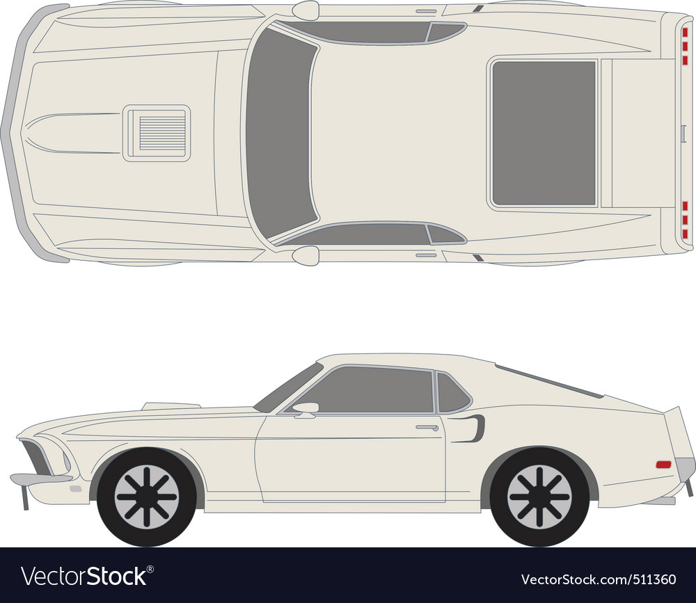 Ford mustang vector | Price: 1 Credit (USD $1)