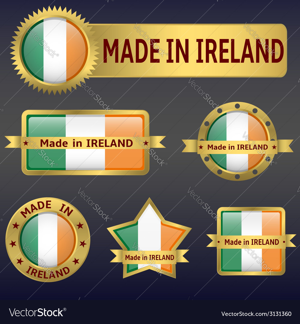 Made in ireland vector | Price: 1 Credit (USD $1)