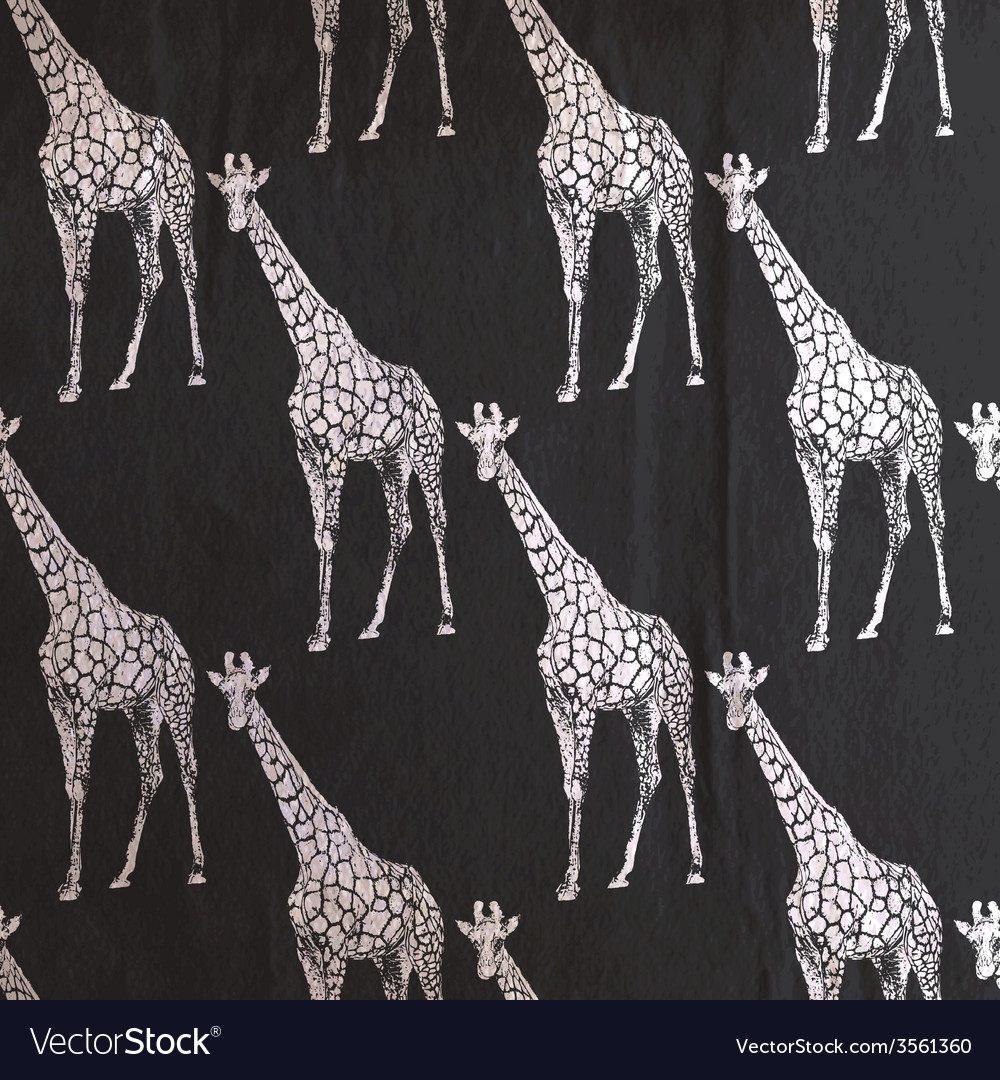 Vintage of giraffe pattern on the old black vector | Price: 1 Credit (USD $1)