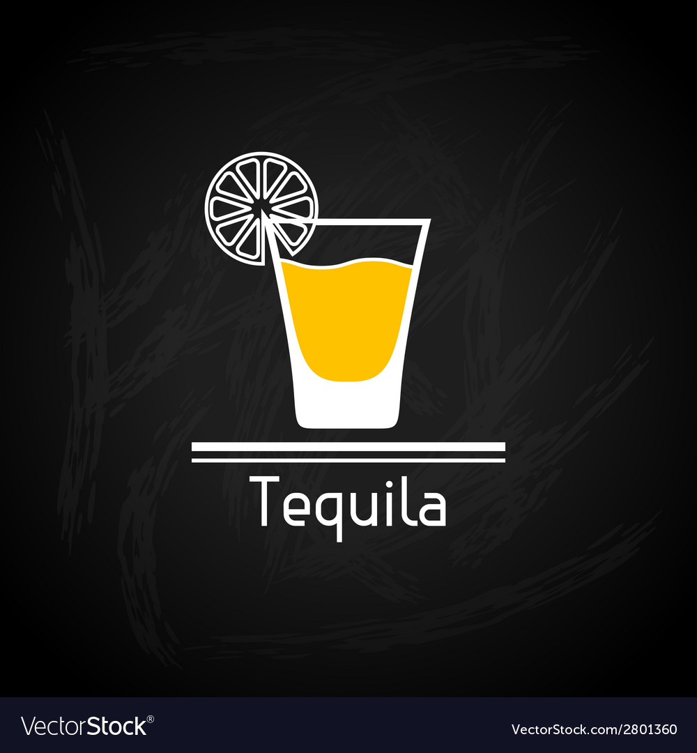 With glass of tequila for menu cover vector | Price: 1 Credit (USD $1)