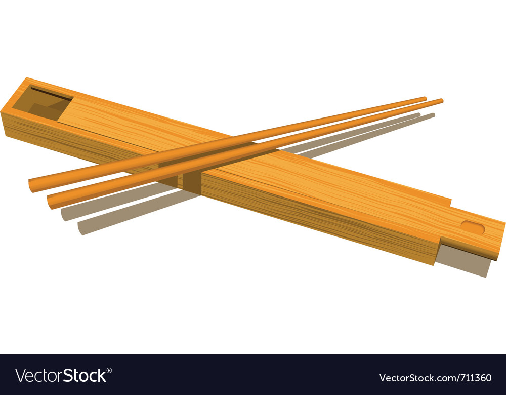 Wood chopsticks vector | Price: 3 Credit (USD $3)