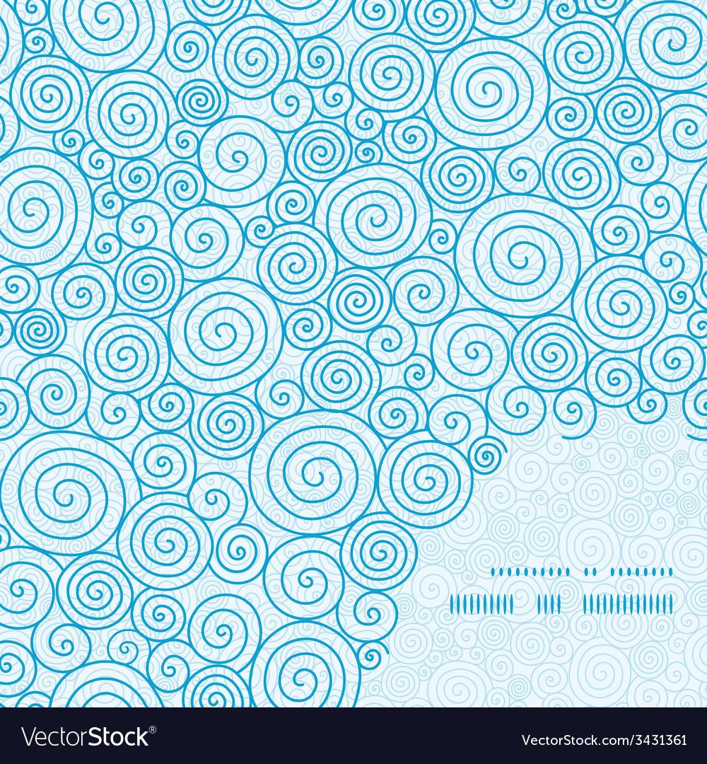 Abstract swirls frame corner pattern background vector | Price: 1 Credit (USD $1)