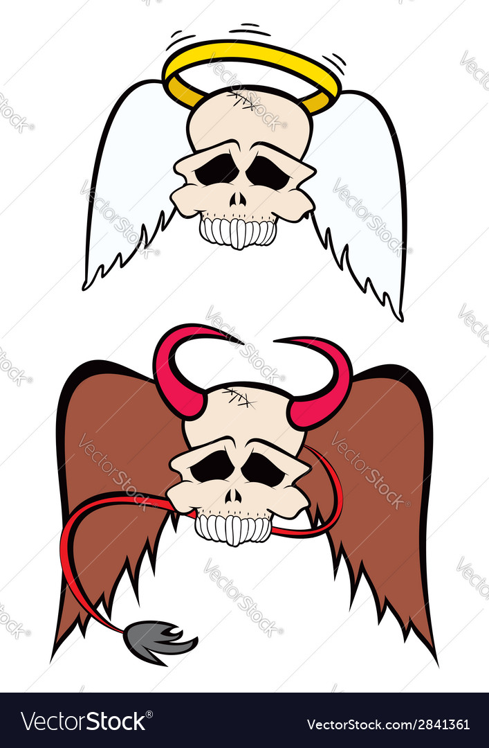 Angel and devil vector | Price: 1 Credit (USD $1)