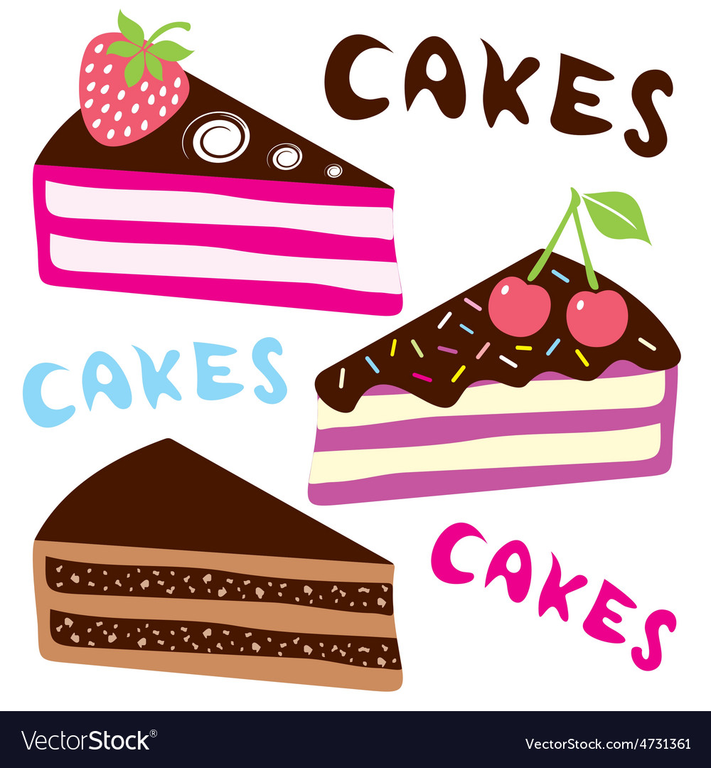 Birthday cakes vector   Price: 1 Credit (USD $1)