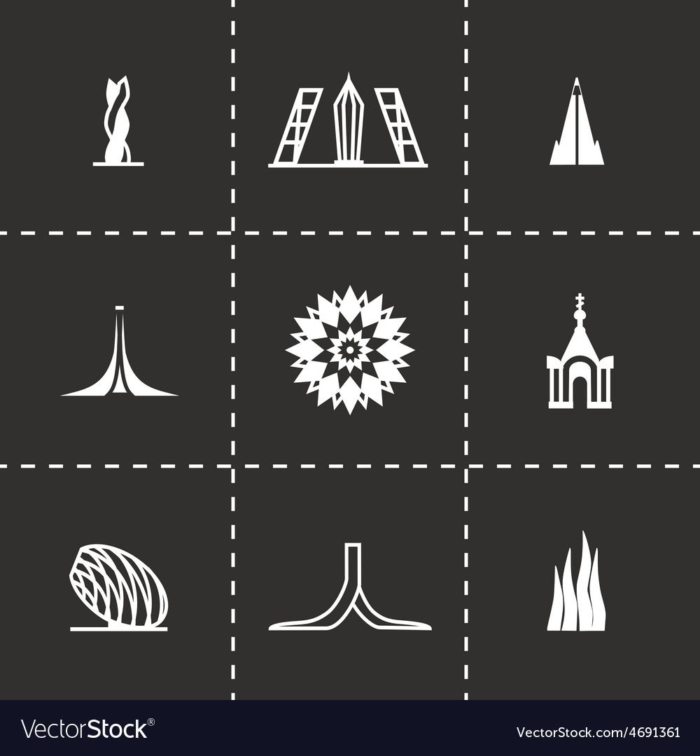 Buildings icon set vector | Price: 1 Credit (USD $1)
