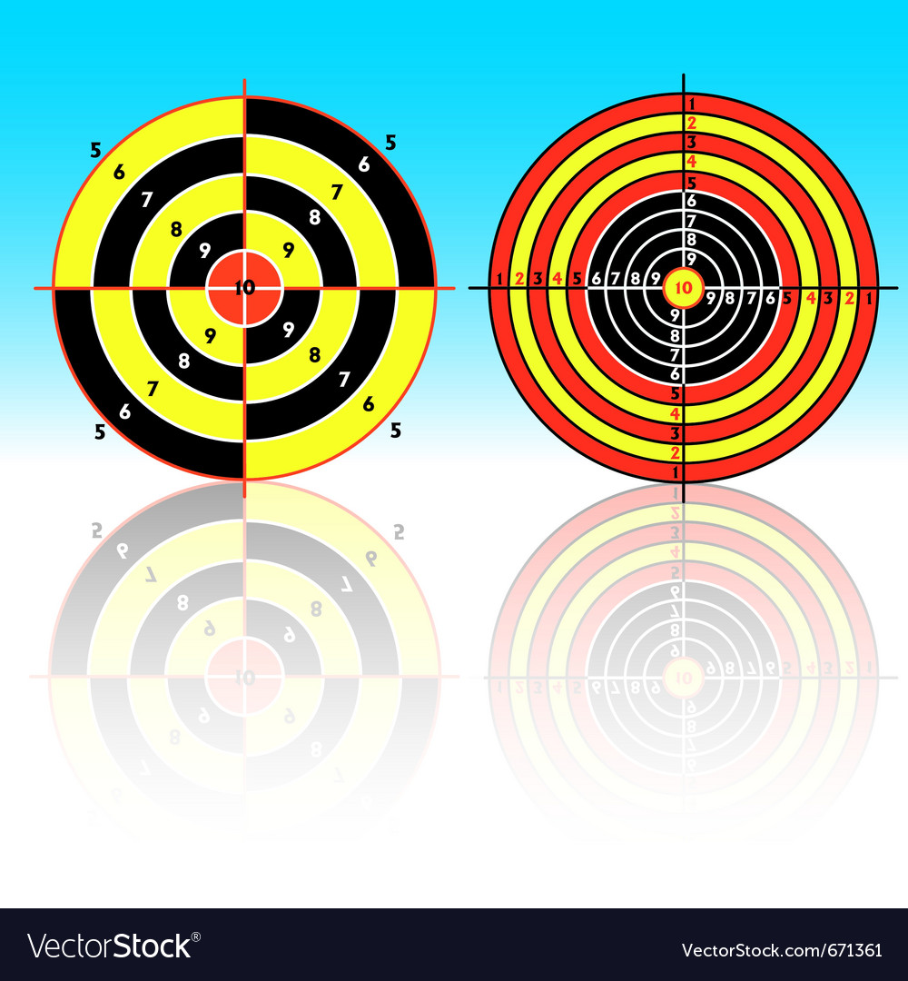 Set targets for practical pistol shooting exercise vector | Price: 1 Credit (USD $1)
