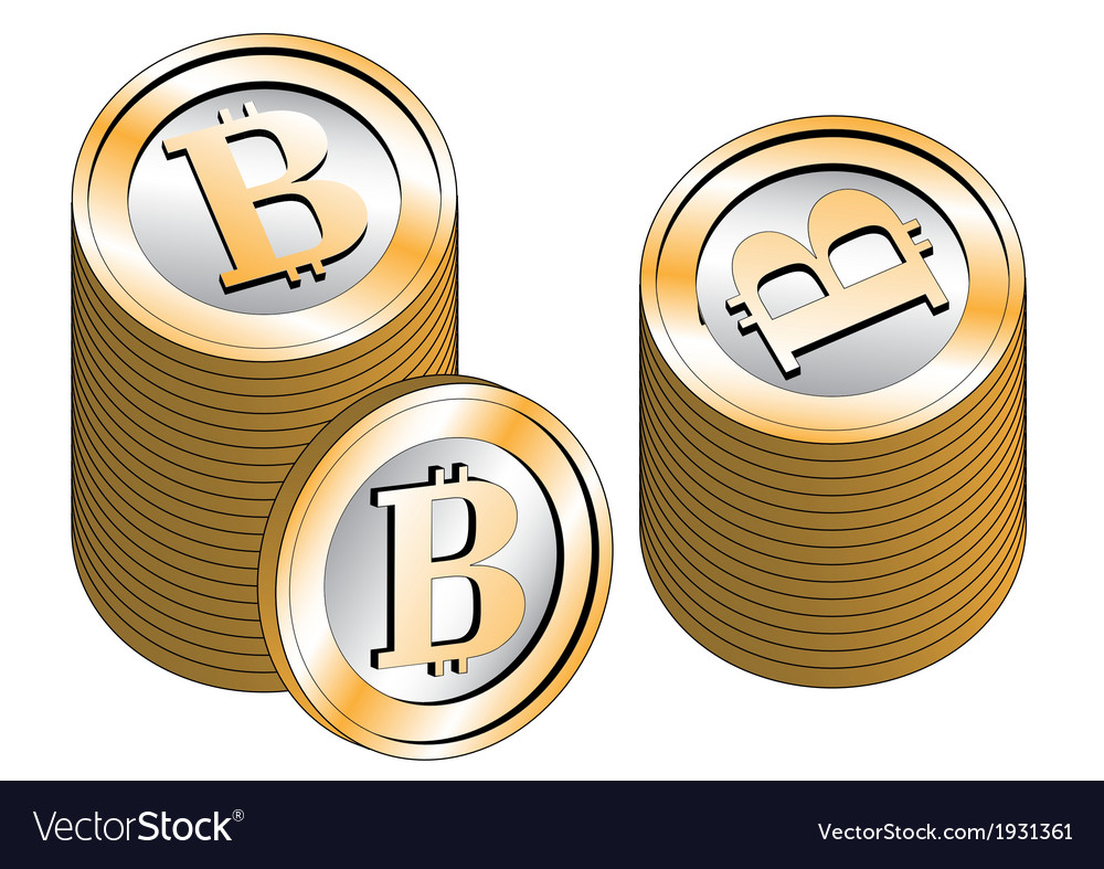 Some stacked bitcoins vector | Price: 1 Credit (USD $1)