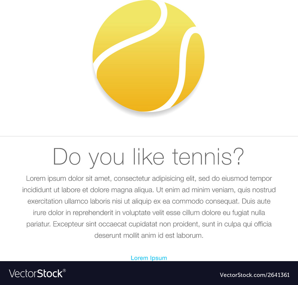 Tennis icon yellow tennis ball vector | Price: 1 Credit (USD $1)
