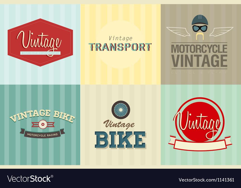 Transport emblems vector | Price: 1 Credit (USD $1)