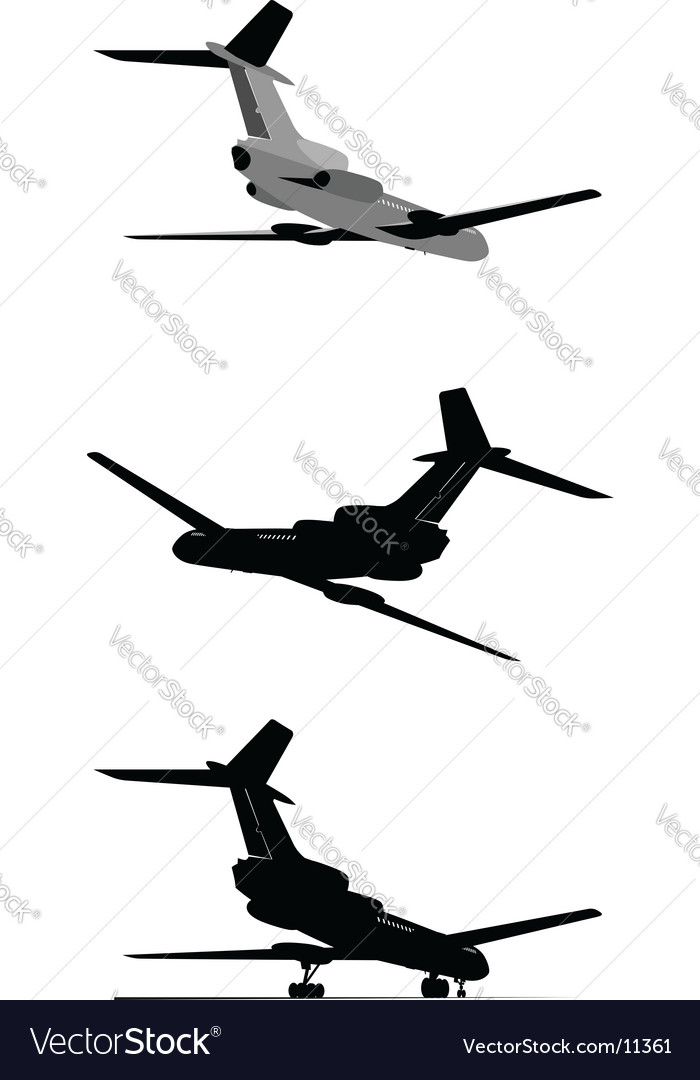Tu-154 jetliner vector | Price: 3 Credit (USD $3)