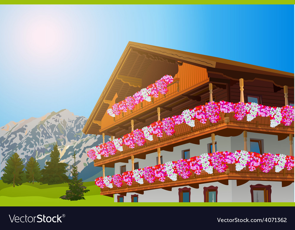 Alps house vector | Price: 3 Credit (USD $3)