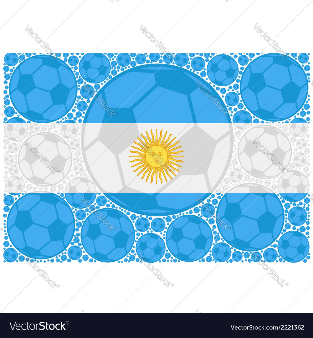 Argentina soccer balls vector | Price: 1 Credit (USD $1)