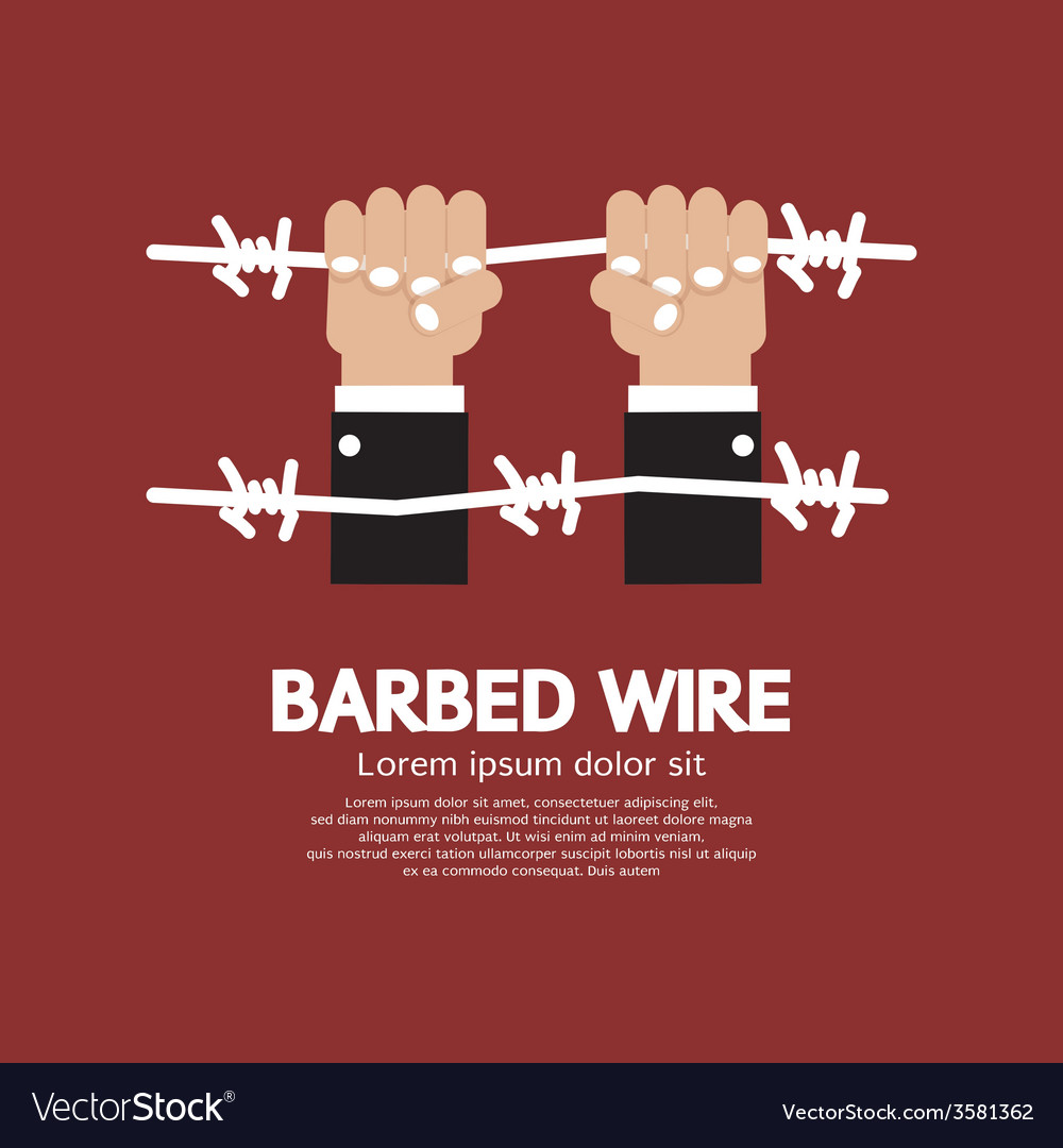 Barbed wire with hand vector | Price: 1 Credit (USD $1)