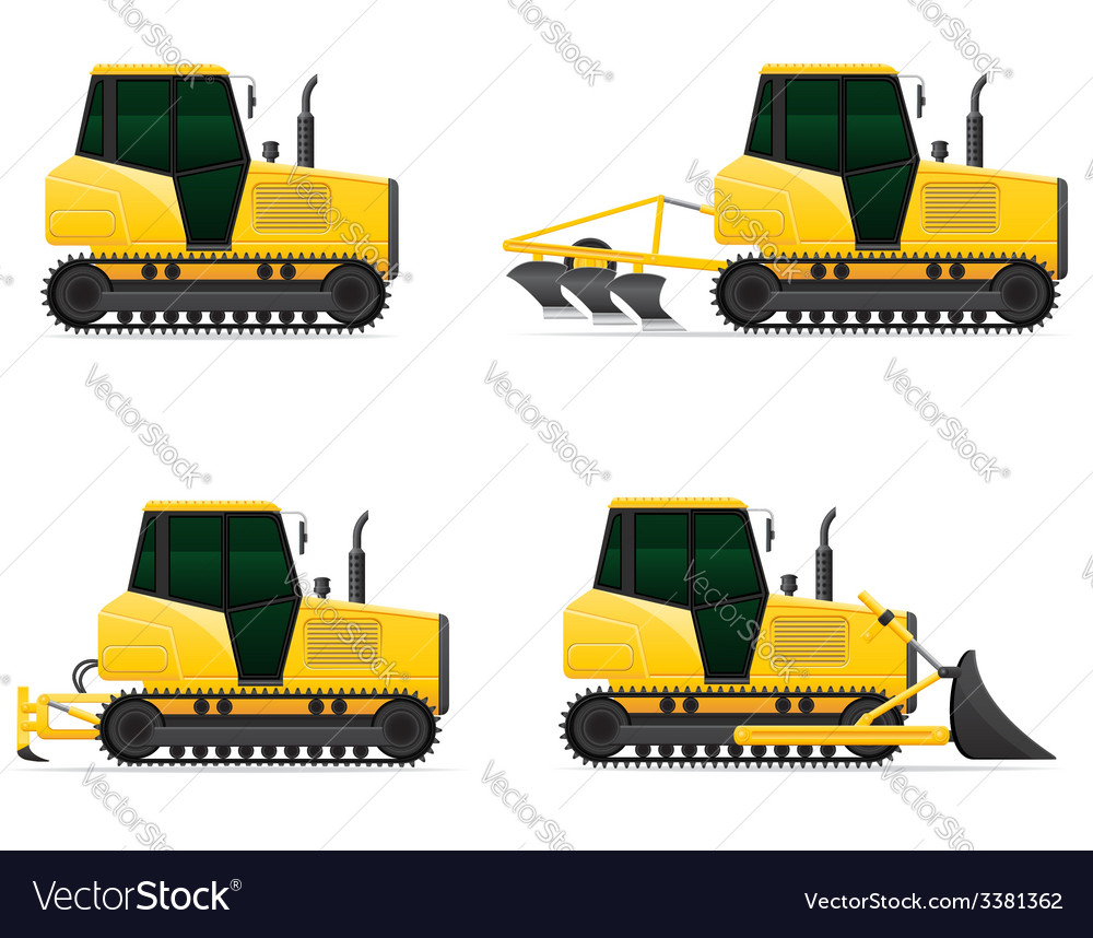 Caterpillar tractor 05 vector | Price: 5 Credit (USD $5)