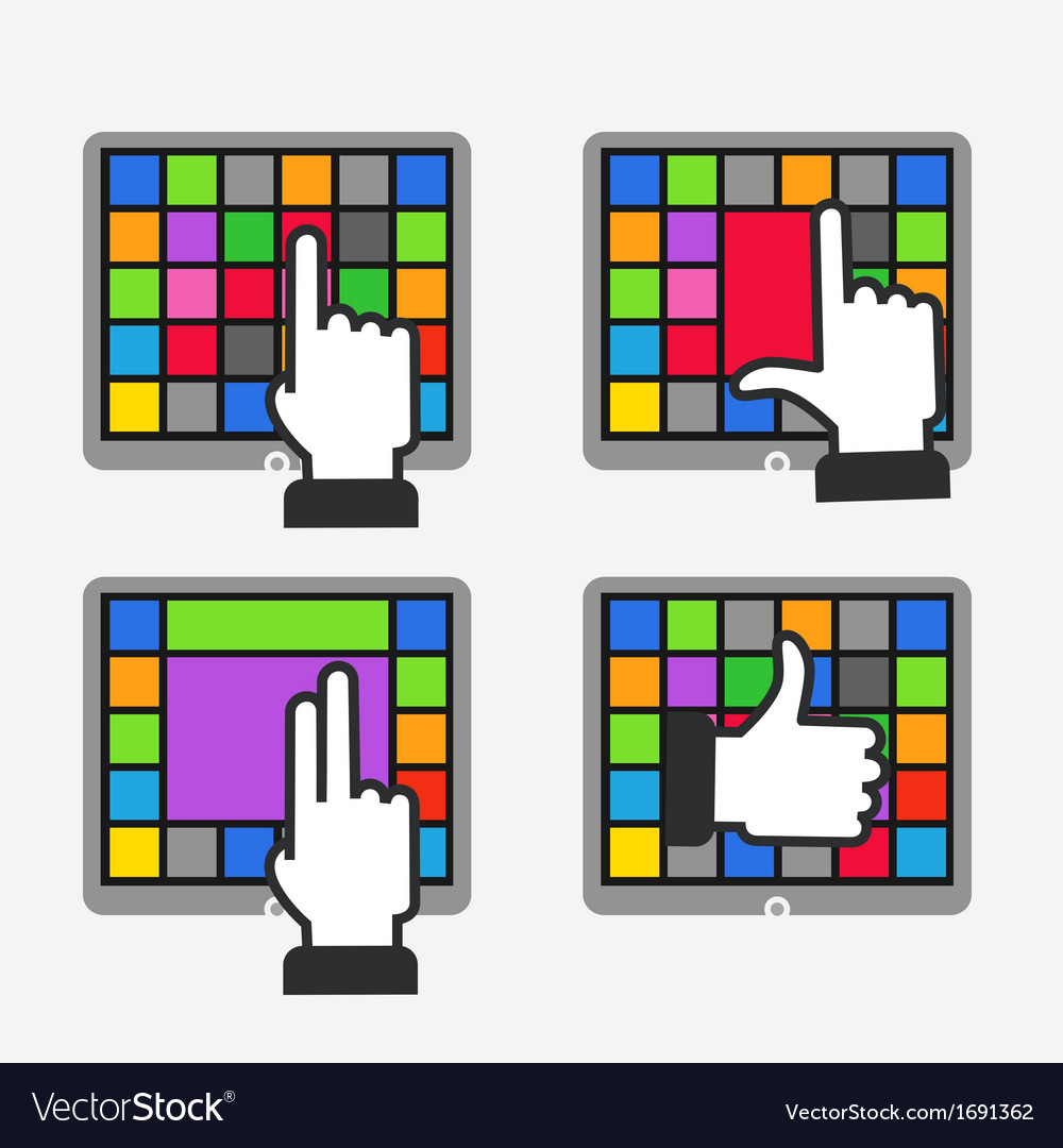 Color tile interface vector | Price: 1 Credit (USD $1)