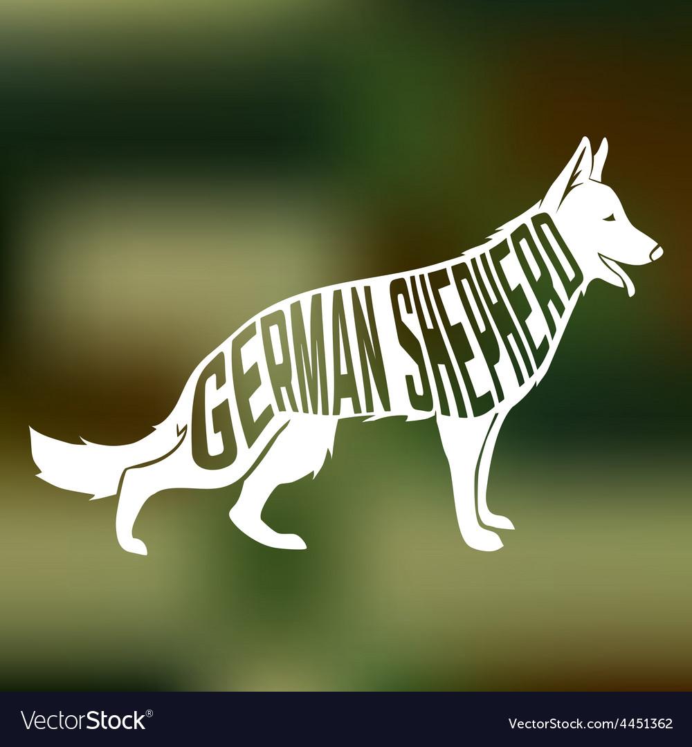Creative design of german shepherd breed inside vector   Price: 1 Credit (USD $1)