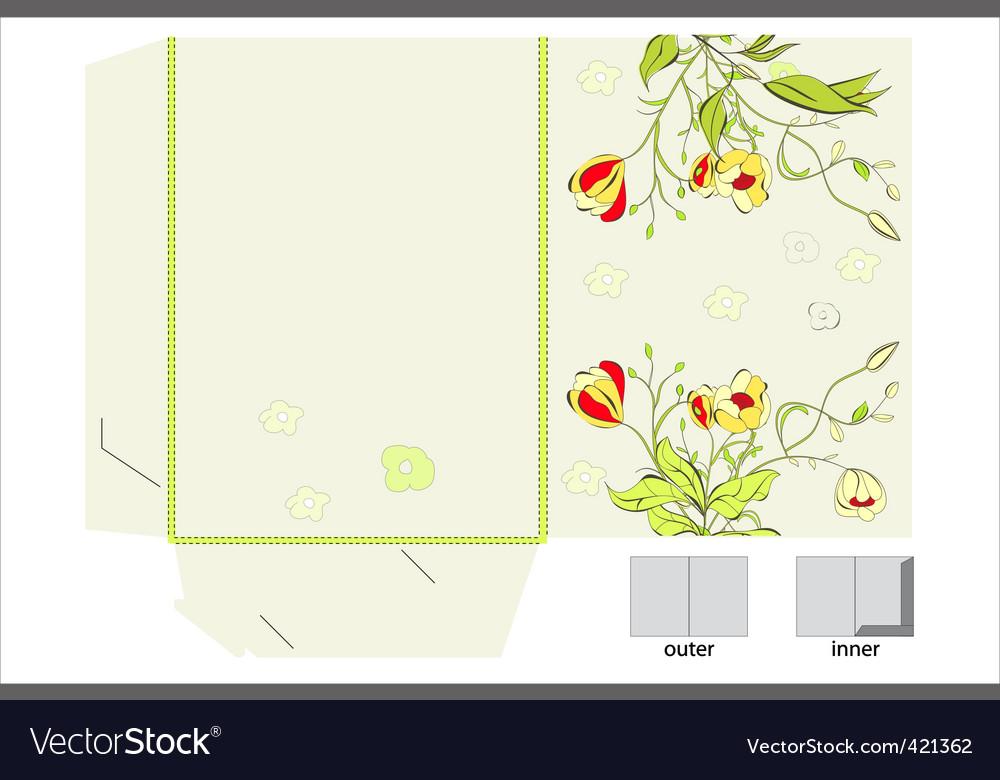 Floral folder vector | Price: 1 Credit (USD $1)