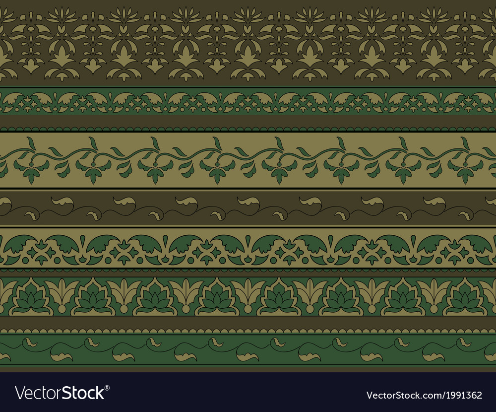 Floral pattern indian style vector | Price: 1 Credit (USD $1)