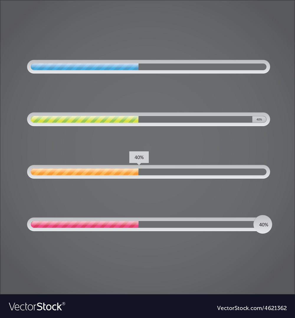 Progress bar vector | Price: 1 Credit (USD $1)