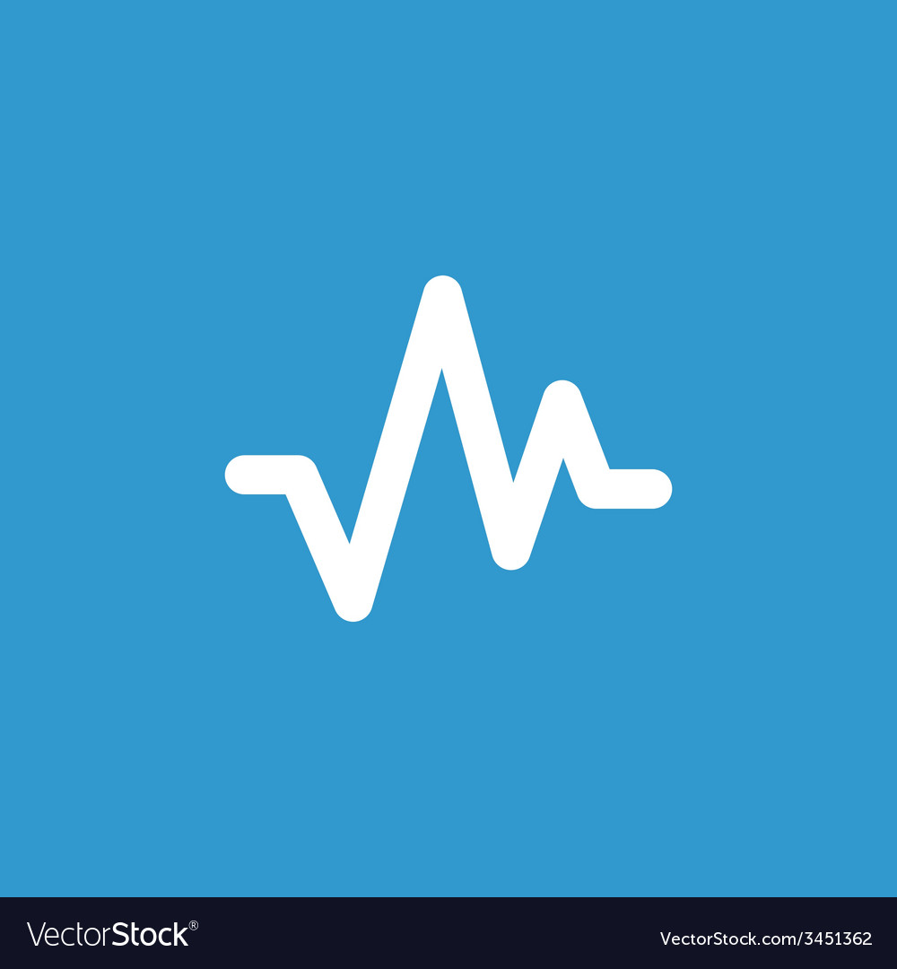 Pulse icon white on the blue background vector   Price: 1 Credit (USD $1)