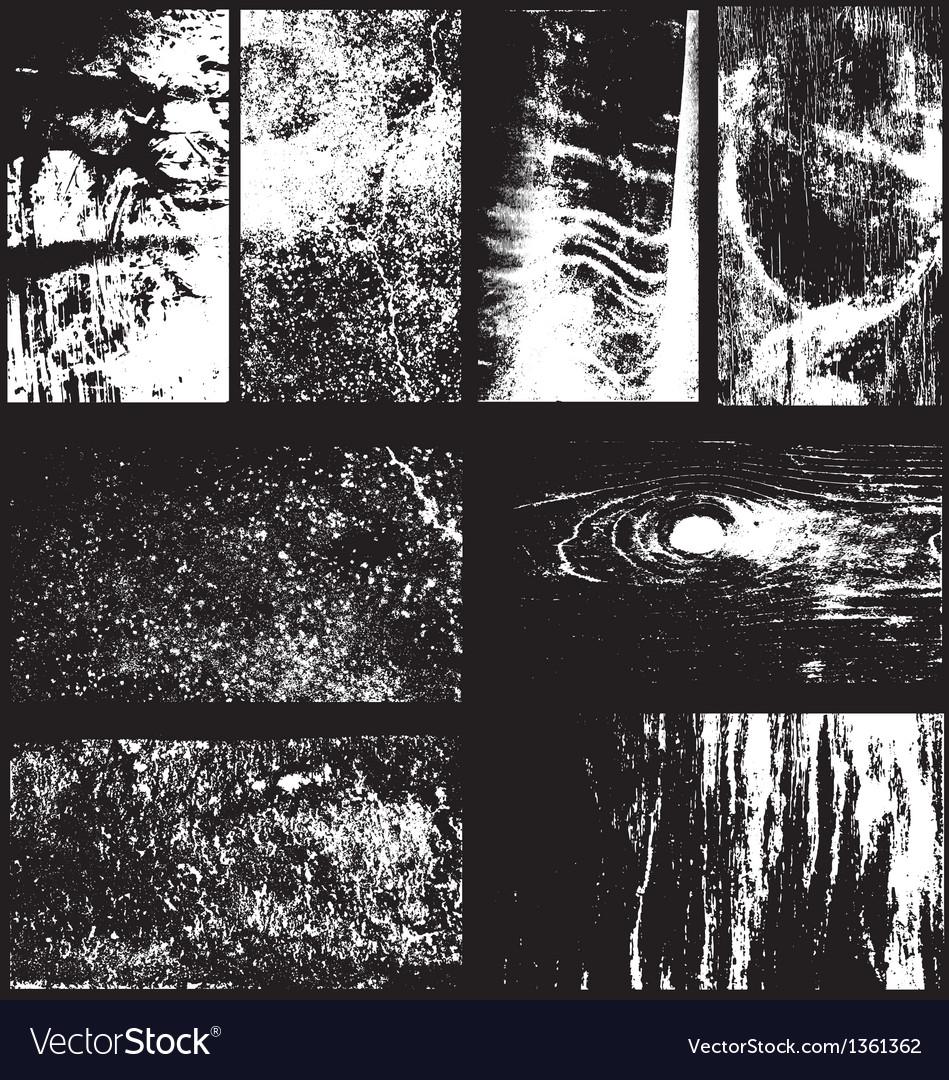 Set of 8 grunge overlays vector | Price: 1 Credit (USD $1)