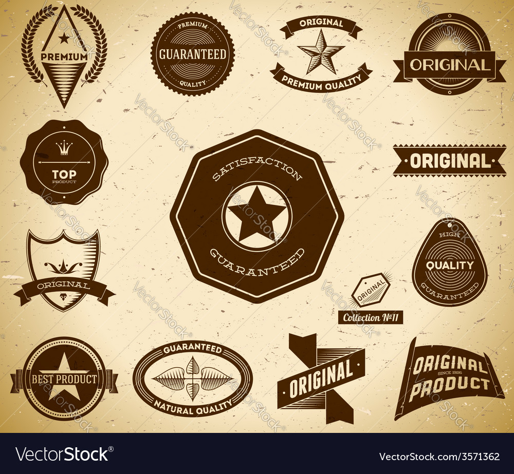 Vintage labels collection 11 vector | Price: 1 Credit (USD $1)