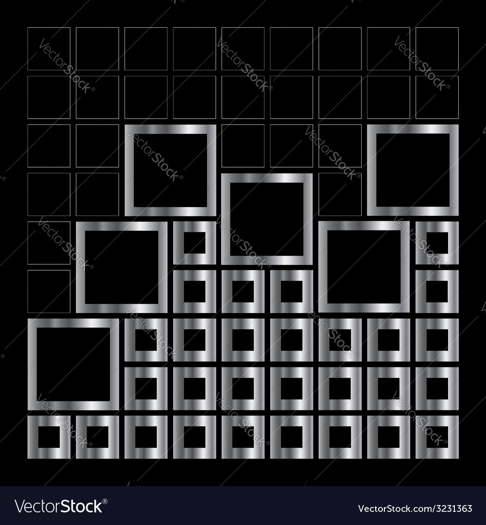 Abstract composition with squares vector | Price: 1 Credit (USD $1)
