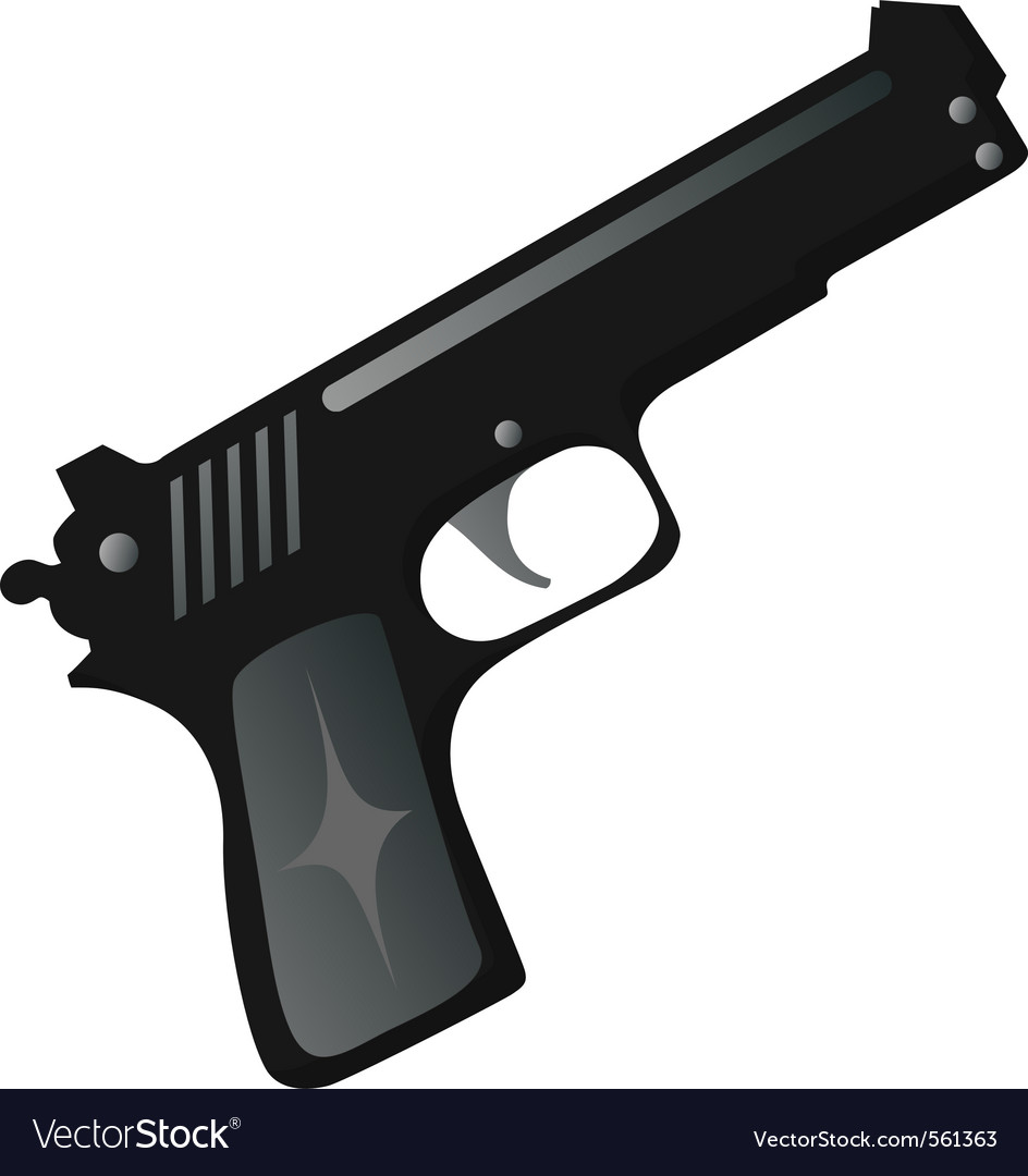 Black gun vector | Price: 1 Credit (USD $1)