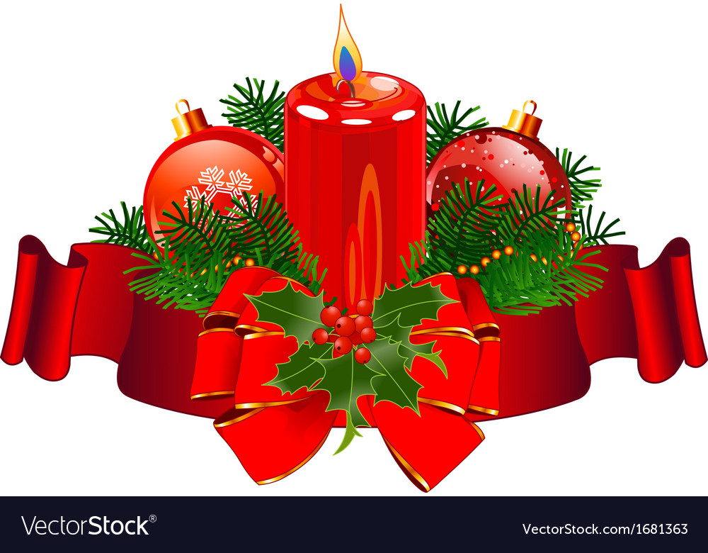 Christmas candle design vector | Price: 1 Credit (USD $1)