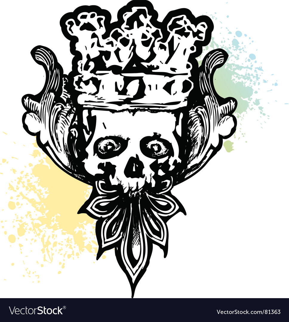 Crowned wicked skull vector | Price: 1 Credit (USD $1)