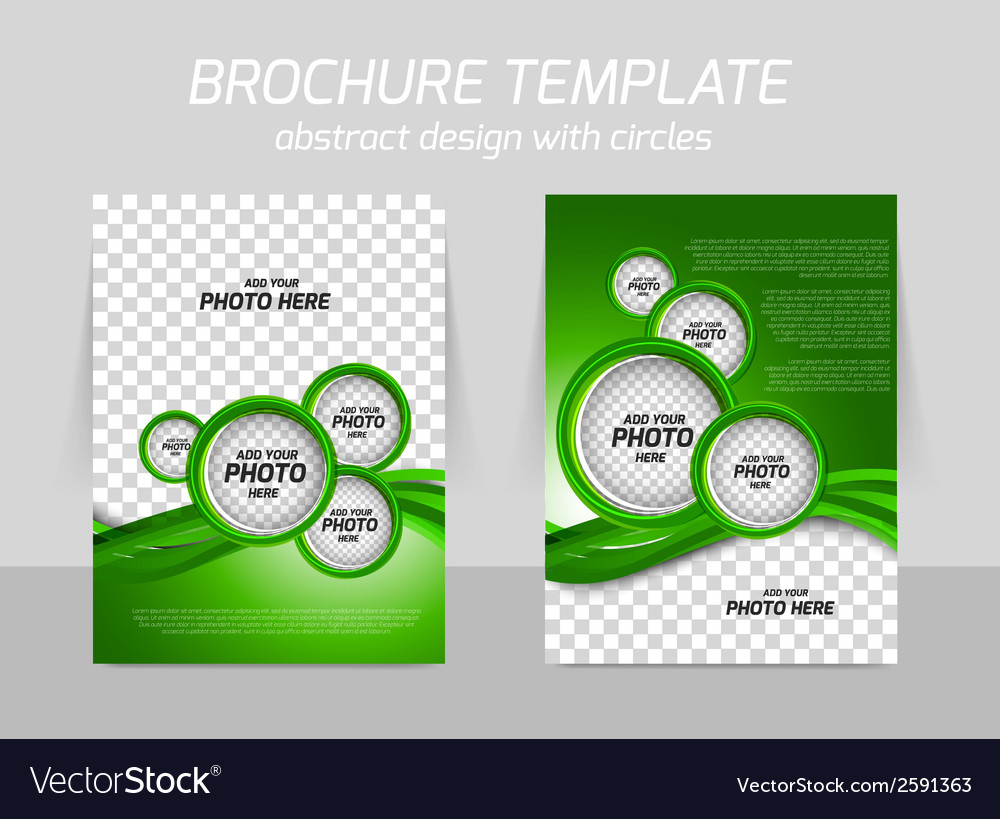 Green brochure vector | Price: 1 Credit (USD $1)