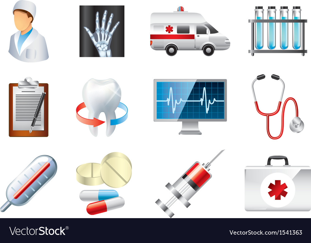 Icons medicine vector | Price: 3 Credit (USD $3)