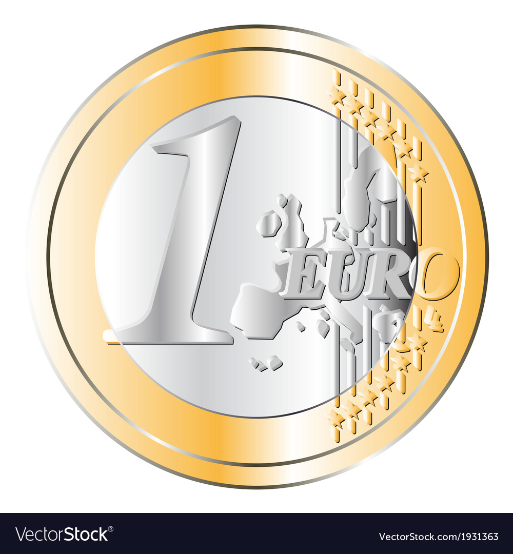 One euro coin vector | Price: 1 Credit (USD $1)