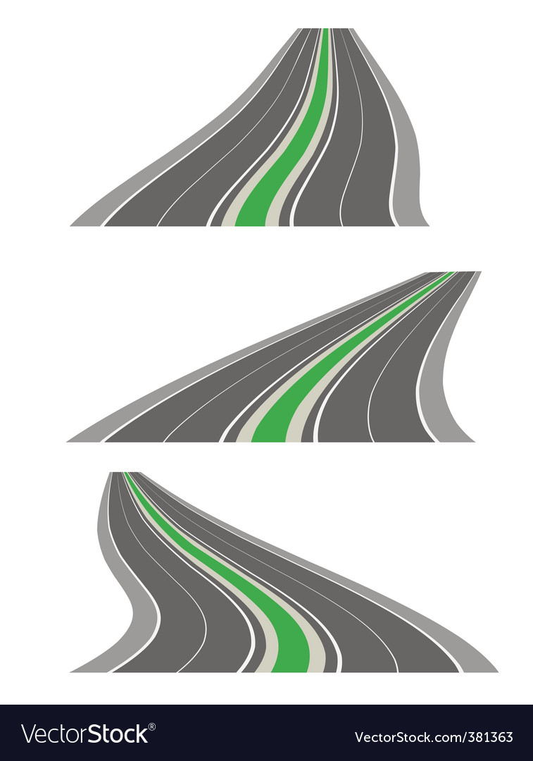 perspective roads vector | Price: 1 Credit (USD $1)
