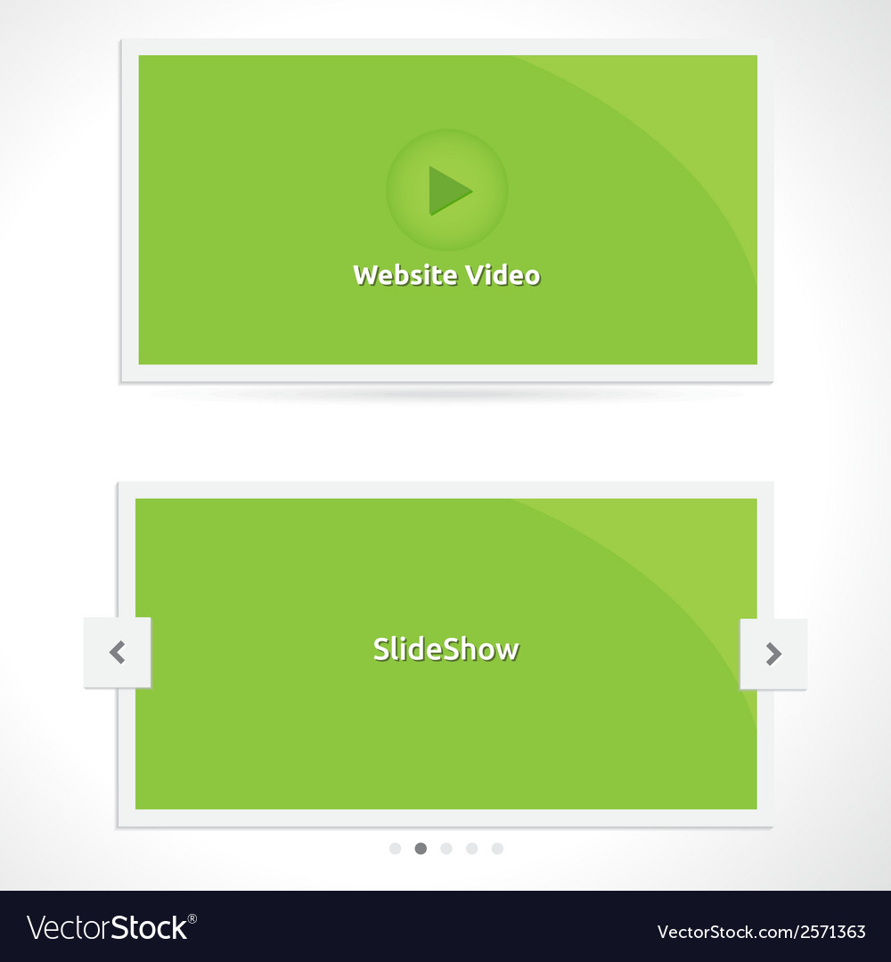 Slideshow and video vector | Price: 1 Credit (USD $1)