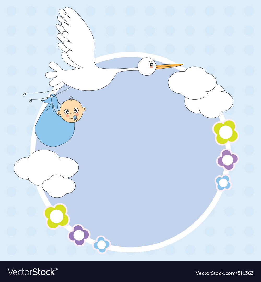 Stork framework vector | Price: 1 Credit (USD $1)