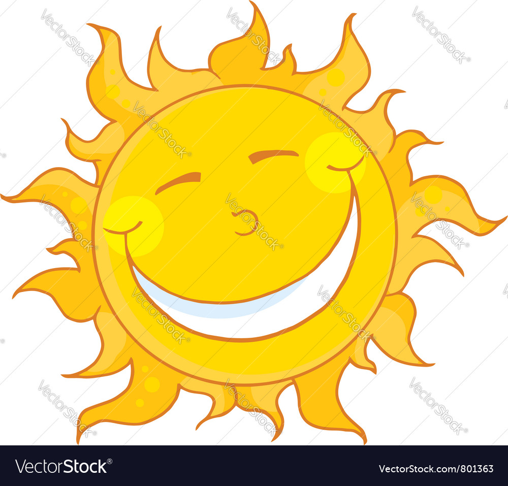 Sun smiling vector | Price: 1 Credit (USD $1)