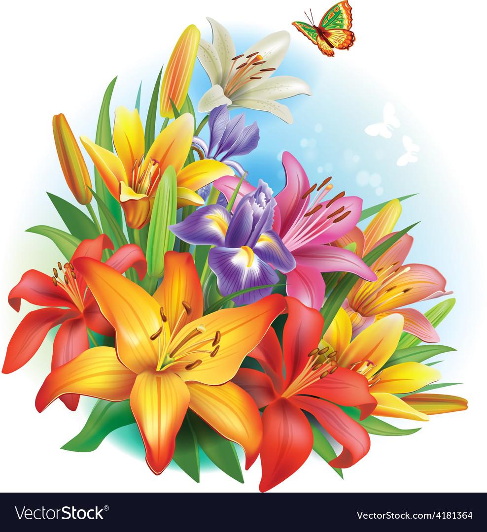 Arrangement of flowers vector | Price: 3 Credit (USD $3)