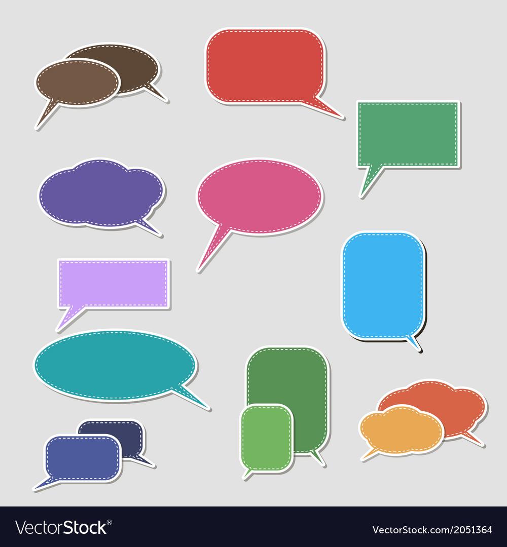 Book speech bubble symbol set vector | Price: 1 Credit (USD $1)