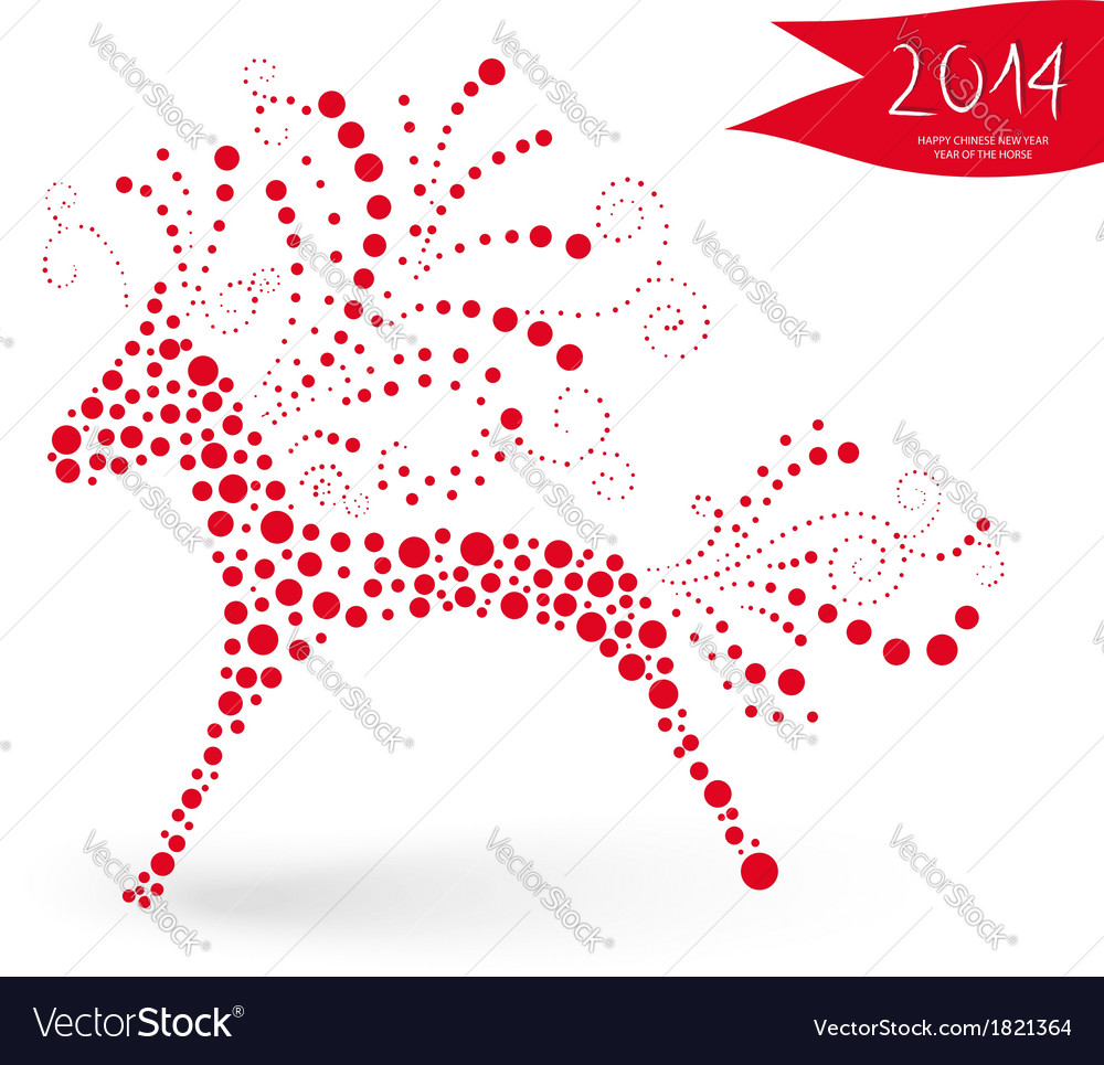 Chinese new year of the horse vector | Price: 1 Credit (USD $1)